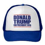 Donald Trump para el presidente gorra azul y