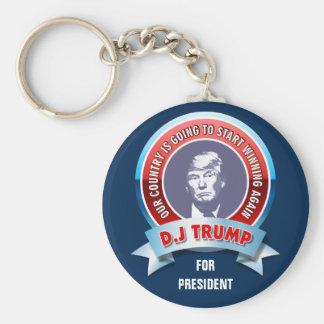 Donald Trump para el presidente Llavero Redondo Tipo Pin