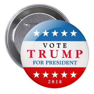 Donald Trump para la campaña electoral 2016 del Pin Redondo De 3 Pulgadas