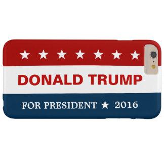 Donald Trump para la estrella roja del presidente Funda Barely There iPhone 6 Plus