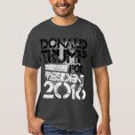 Donald Trump para presidente Grunge Poleras