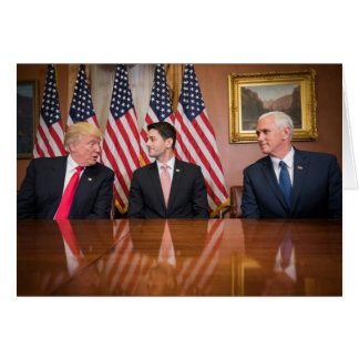 Donald Trump, Paul Ryan, and Mike Pence Card