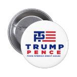 Donald Trump Pence 2016 Election Campaign Button