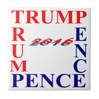 Donald Trump - peniques de Mike Azulejo Cuadrado Pequeño