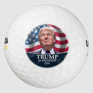 Donald Trump Photo - President 2016 Pack Of Golf Balls