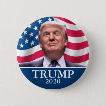 Donald Trump Photo - President 2020 - enough said Pinback Button