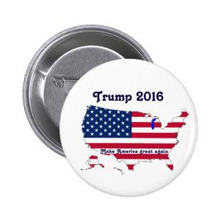 Donald Trump Pin Redondo De 2 Pulgadas