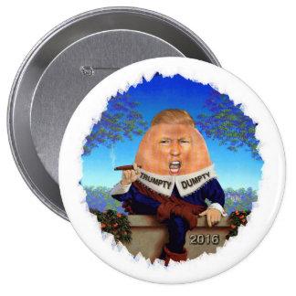 Donald Trump Pin Redondo De 4 Pulgadas