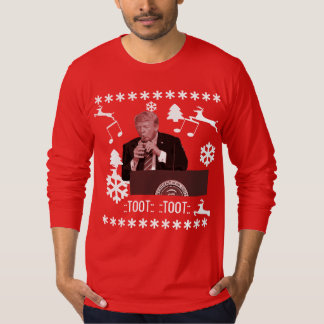 Donald Trump playing xmas bottle ugly shirt