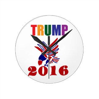 Donald Trump Political Design Round Clock