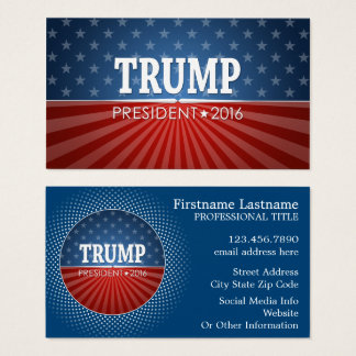 Donald Trump - President 2016 Business Card