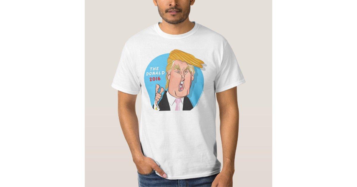 donald trump president cartoon tshirt