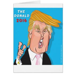 Donald Trump President 2016 Catoon Greeting Card