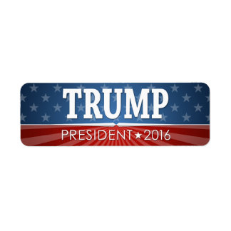 Donald Trump - President 2016 Label
