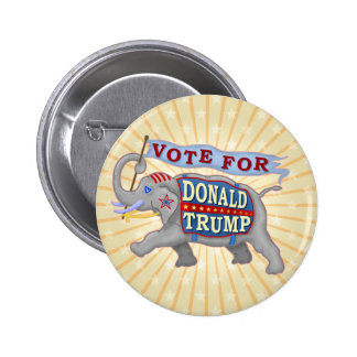 Donald Trump President 2016 Republican Elephant 2 Inch Round Button