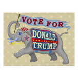 Donald Trump President 2016 Republican Elephant Poster