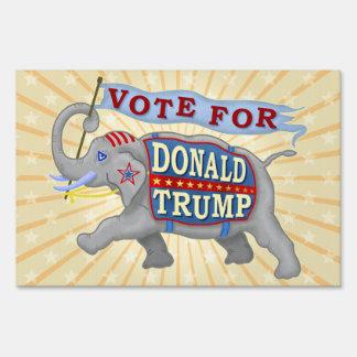 Donald Trump President 2016 Republican Elephant Sign