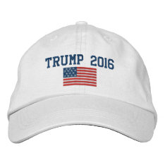 Donald Trump - President 2016 With American Flag Cap at Zazzle