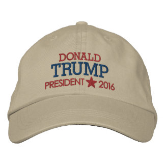 Donald Trump - President 2016 with Star Embroidered Baseball Hat