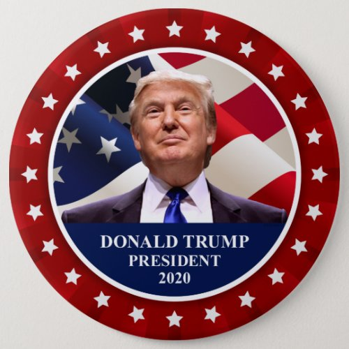 Donald Trump President 2020 Red 6 Pinback Button