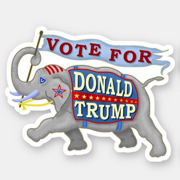 Donald Trump President 2020 GOP ELEPHANT NEW Vinyl Decal Sticker