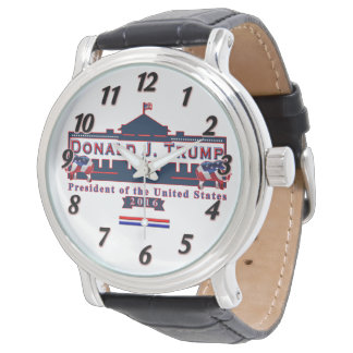 Donald Trump President Elect Vintage Leather Watch