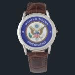 """&quot;Donald Trump,&quot; &quot;President&quot; &amp; POTUS seal Wristwatch<br><div class=""""desc"""">Time for Donald Trump,  President,  and  the official presidential seal.</div>"""