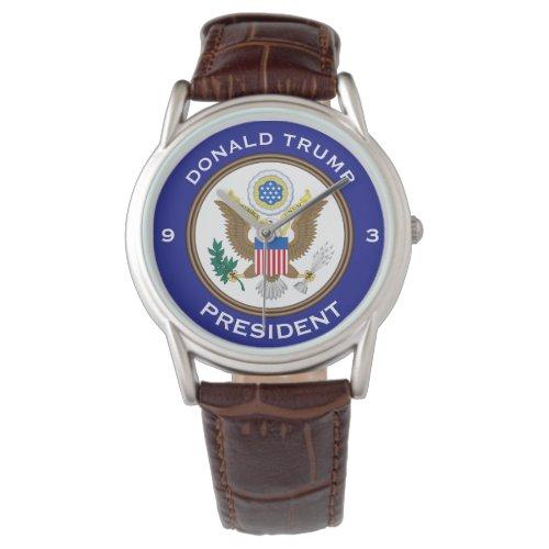 """Donald Trump,"" ""President"" & POTUS seal Wristwatch"
