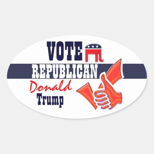 Donald Trump presidential elections vote Oval Sticker   Zazzle