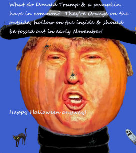 Image result for trump pumpkin head