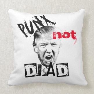 DONALD TRUMP - PUNX not DEAD! Throw Pillow