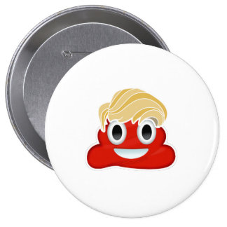 Donald Trump Red Poo - -  Button