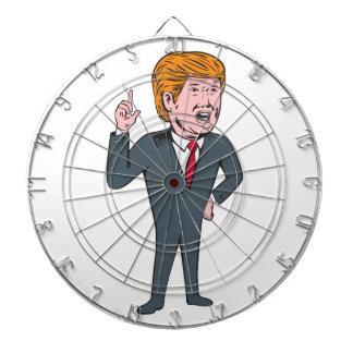 Donald Trump Republican Candidate Cartoon Dartboard