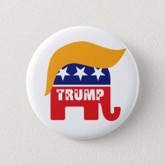 Donald Trump Republican Elephant Hair Logo Button