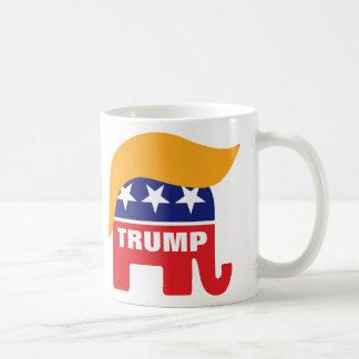 Donald Trump Republican Elephant Hair Logo Coffee Mug