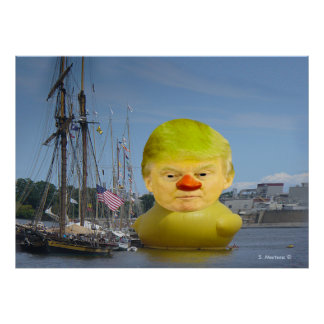 Donald Trump Rubber Yellow Duck Value Poster