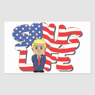 Donald Trump Smug Life Rectangular Sticker
