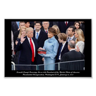 Donald Trump Swearing-In as President Poster