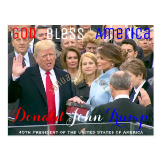 Donald Trump taking his Oath of Office January 20 Postcard