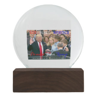 Donald Trump taking his Oath of Office January 20 Snow Globe