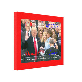 Donald Trump taking his Oath of Office POTUS Canvas Print