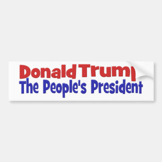 Donald Trump The People's President Bumper Sticker