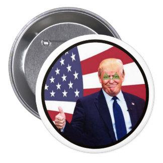 Donald Trump: Trilateral Trump Pinback Button