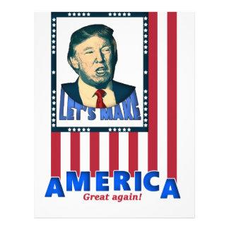 Donald Trump US 2016 Elections America Great again Letterhead