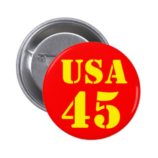 Donald Trump USA 45 Pinback Button