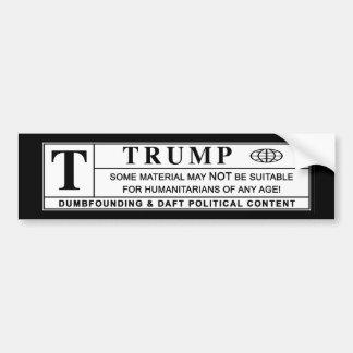 Donald Trump Warning Label