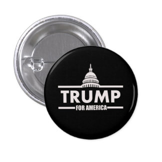Donald Trump White House 1 Inch Round Button