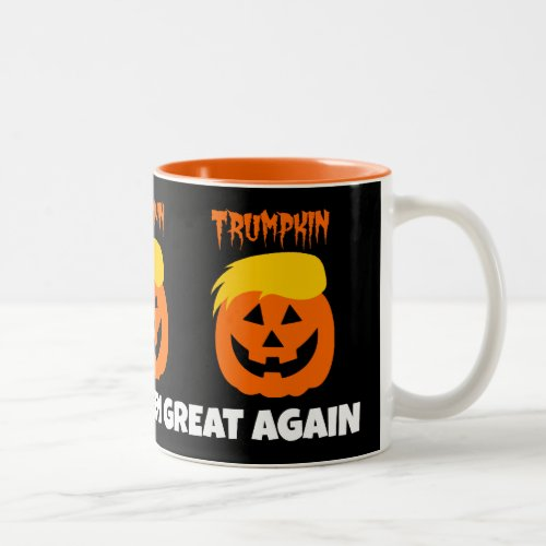 Donald Trumpkin Make Halloween Great Again Two-Tone Coffee Mug