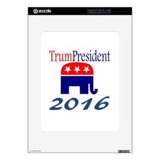 Donald TrumPresident elephant Decals For iPad