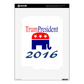 Donald TrumPresident elephant Decals For iPad 3